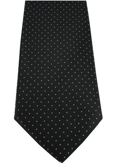 HIGH QUALITY Handmade Tie - A Timeless Classic - Black With White Dots