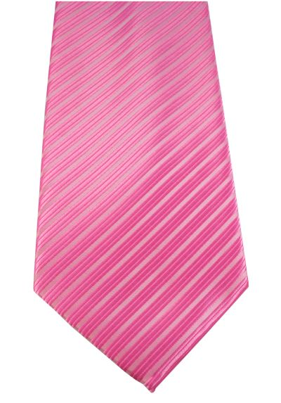 "HIGH QUALITY Handmade Tie - Striped - Pink and White Stripe ""Helter Skelter"" Stripes"
