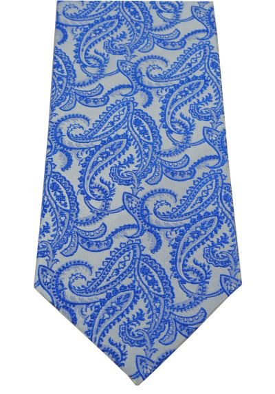 HIGH QUALITY Handmade Woven Tie - 100% Pure Silk - A Timeless Classic - Paisley Pattern - Navy Blue